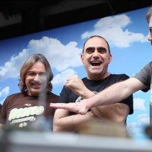 Elio e le Storie Tese: Faso, Cesareo, Elio e Rocco Tanica nelle foto del backstage dei video per Mediaset Infinity