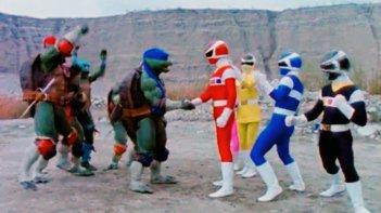 Power Rangers: crossover con le Tartarughe ninja