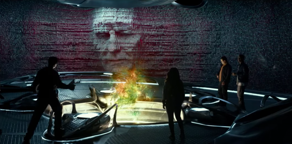 Power Rangers: Zordon in una scena del film