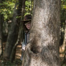 The Walking Dead: Chandler Riggs in una foto di Something They Need