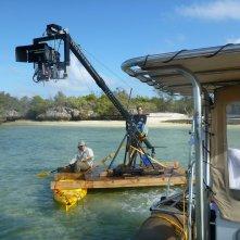 Aldabra - C'era una volta un'isola: un'immagine dal set del documentario