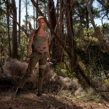 Tomb Raider: Alicia Vikander in una foto del film
