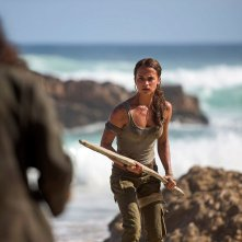 Tomb Raider: l'attrice Alicia Vikander in una foto del film