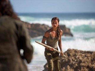 Tomb Raider: l'attrice Alicia Vikander in una foto del film