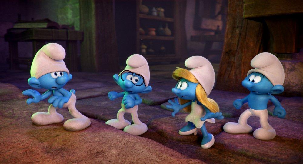 I Puffi - Viaggio nella foresta segreta: una scena del film d'animazione