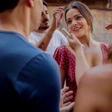 La parrucchiera: Pina Turco sul set del film