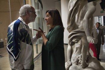 Lasciati andare: Carla Signoris e Toni Servillo in una scena del film
