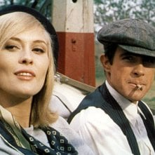 Gangster Story: Warren Beatty e Faye Dunaway in una scena del film