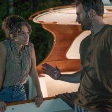 Gifted - Il dono del talento: Jenny Slate e Chris Evans in una scena del film