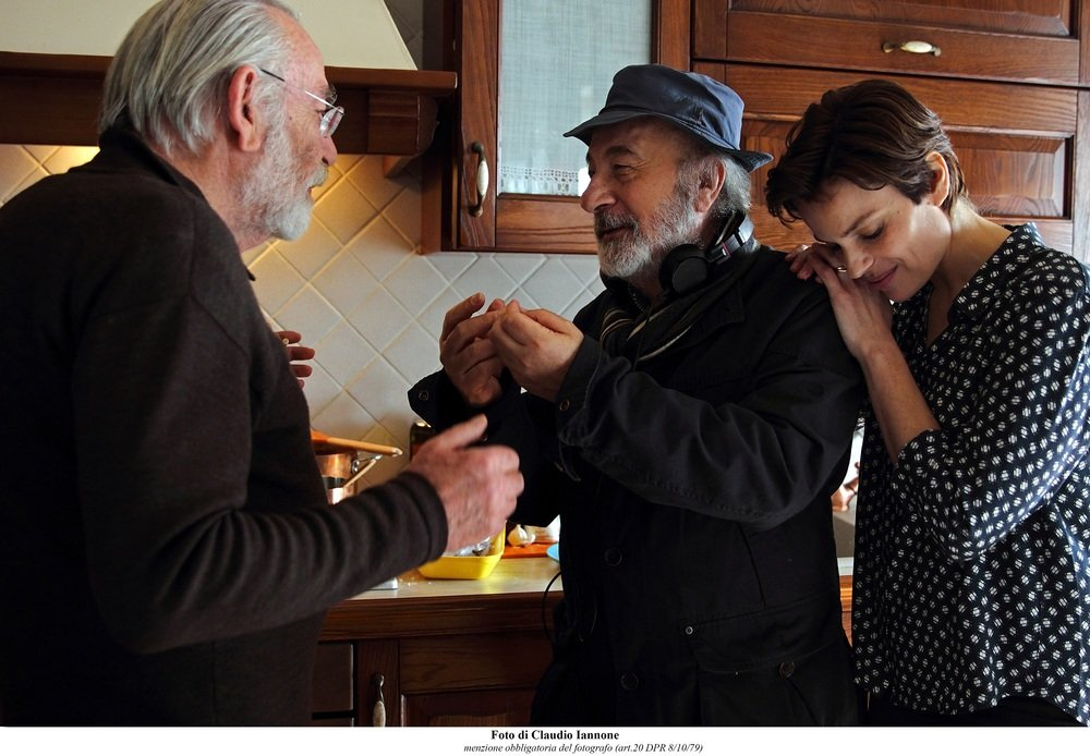 La tenerezza: Renato Carpentieri, Gianni Amelio e Micaela Ramazzotti sul set del film