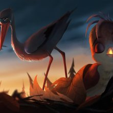 Richard the Stork: un momento del film d'animazione