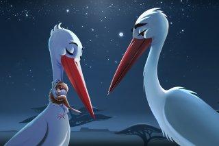 Richard the Stork: una scena del film d'animazione