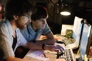 The Startup - Accendi il tuo futuro: Luca Di Giovanni e Andrea Arcangeli in una scena del film