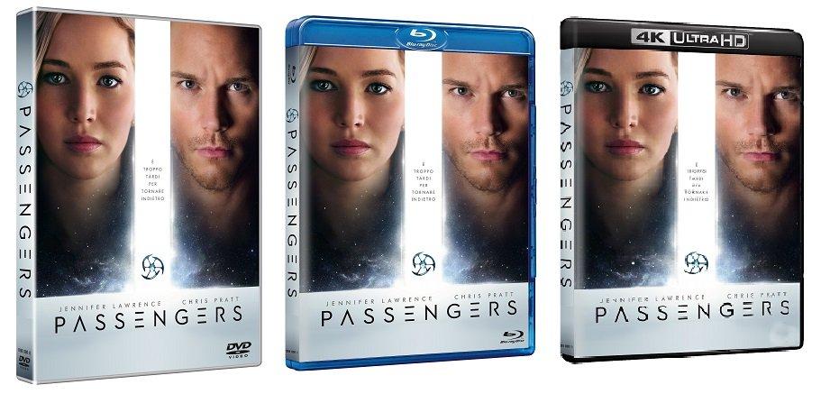 Le cover homevideo di Passengers