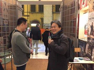 Lee Gye-byeok a Firenze insieme al maestro Park Chan-wook.