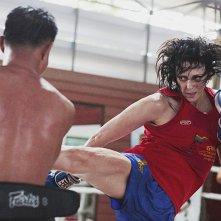 Ciao amore, vado a combattere: Chantal Ughi si allena in un'immagine del documentario