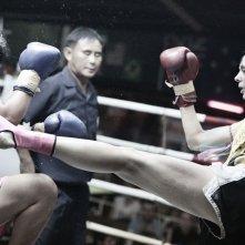 Ciao amore, vado a combattere: Chantal Ughi in azione sul ring in un'immagine del documentario