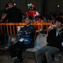 Romics 2017: Yoshiyuki Tomino prima di salire sul palco