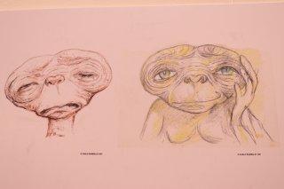 Romics 2017: studio delle espressioni di E.T. alla mostra dedicata a Carlo Rambaldi