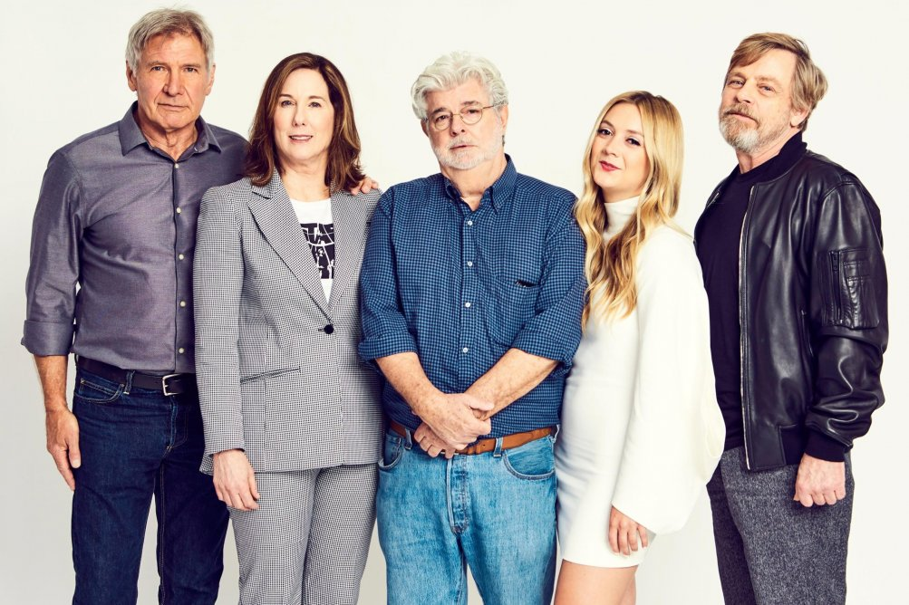 Star Wars Celebration: Billie Lourd insieme a George Lucas, Mark Hamill, Harrison Ford e Kathleen Kennedy