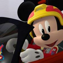 Topolino e Gli Amici del Rally: una scena della serie animata