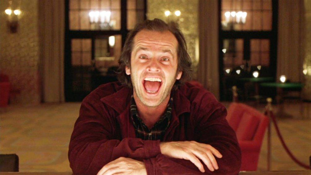Shining: Jack Nicholson in una scena del film