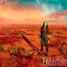 Guardiani della Galassia Vol. 2: una foto di Gamora
