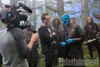 Guardiani della Galassia Vol. 2: il regista James Gunn sul set