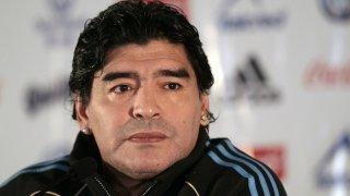 Maradonapoli: un primo piano di Maradona