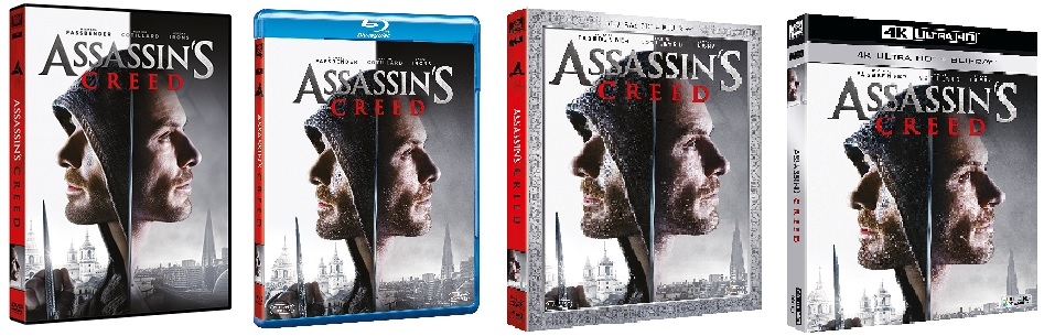 Le cover homevideo di Assassin's Creed