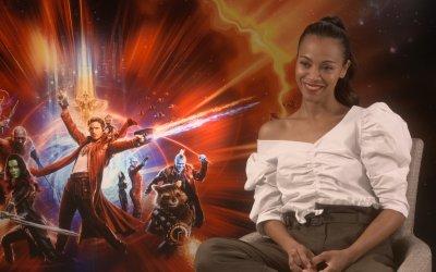 """Zoe Saldana è Gamora in Guardiani della Galassia 2: """"La speranza dell'umanità è sia donna che uomo"""""""