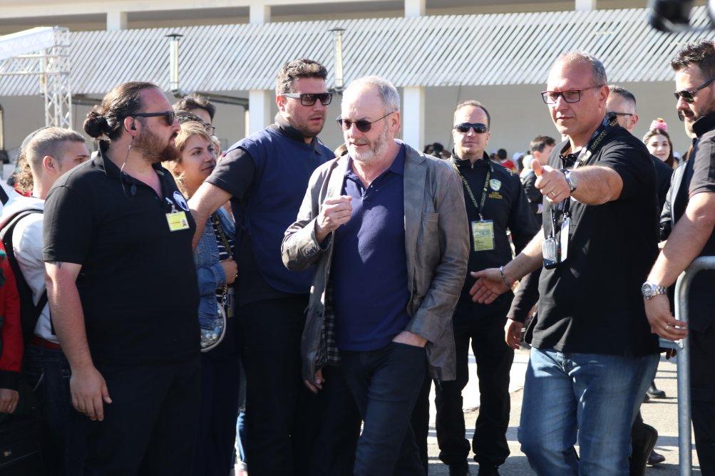 Comicon 2017: Liam Cunningham arriva nell'area photocall