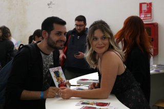 Comicon 2017: Rachel Keller alla firma degli autografi
