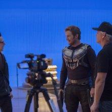 Guardiani della Galassia Vol. 2: Chris Pratt e il regista James Gunn sul set