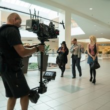 Wilson: Woody Harrelson, Isabella Amara e Laura Dern sul set del film