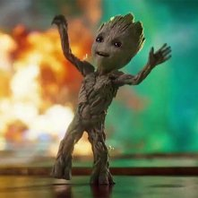 Guardiani della Galassia Vol. 2: Baby Groot balla in una foto del film