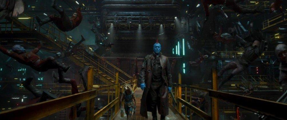 Guardiani della Galassia Vol. 2: Rocket, Groot e Yondu in una foto del film