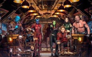 Guardiani della Galassia vol. 2: una foto del cast del film