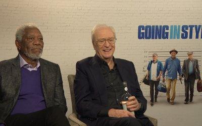 Morgan Freeman e Michael Caine, rapine da Oscar in Insospettabili Sospetti: tra Ritorno al futuro e autoironia