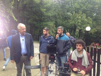 Indizi di felicità: Walter Veltroni e Davide Manca sul set del documentario