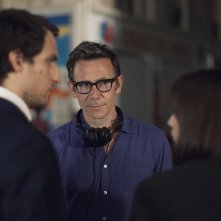 Formidabile: Louis Garrel e Stacy Martin col regista Michel Hazanavicius