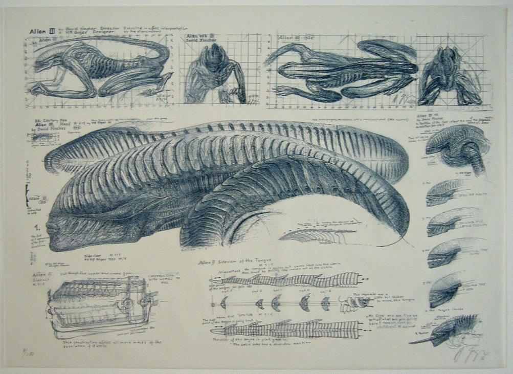 Alien 3: concept art per il film di David Fincher