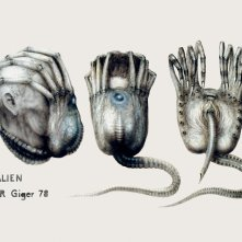 Il facehugger di Alien nei disegni di Giger