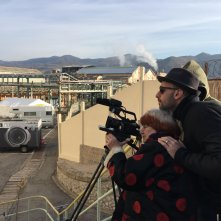 Faces, Places: JR e Agnes Varda girano una scena del film