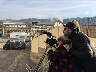 Faces, Places: JR e Agnes Varda girano una scena del film