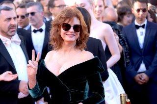 Cannes 2017: uno scatto di Susan Sarandon sul red carpet inaugurale