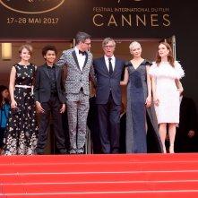 Cannes 2017: uno scatto di Millicent Simmonds, Jaden Michael sul red carpet di Wonderstruck