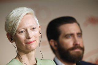 Cannes 2007: Tilda Swinton e Jake Gyllenhaal durante la conferenza stampa per Okja