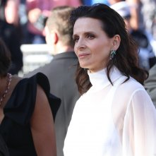 Cannes 2017: uno scatto di Juliette Binoche sul red carpet di Okja