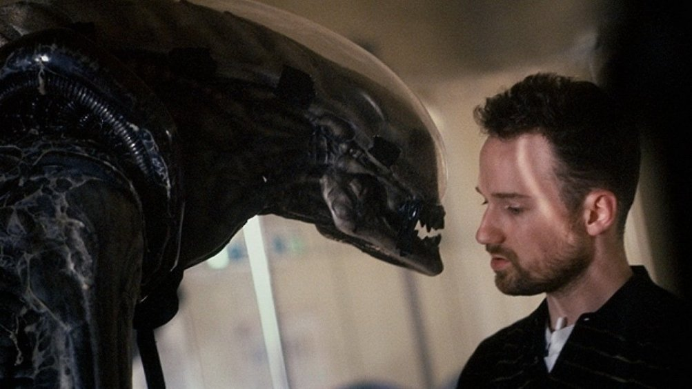 David Fincher sul set di Alien 3